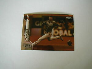 2020-TOPPS-CHROME-WILLY-ADAMES-SEPIA-REFRACTOR-CARD-179-TAMPA-BAY-RAYS