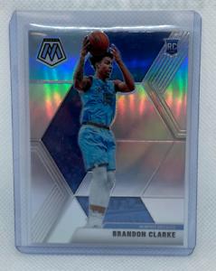 2019-20-Panini-Mosaic-Brandon-Clarke-Silver-Prizm-Rookie-RC-Grizzlies-207