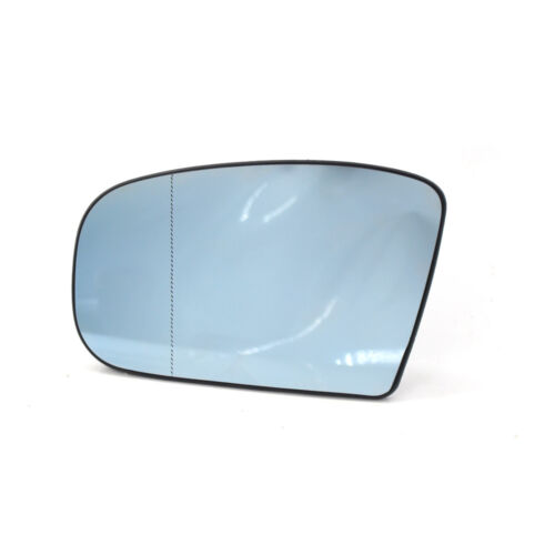 Left Side Heated Door Blue Mirror Glass with Plate For Mercedes-Benz W220 99-02