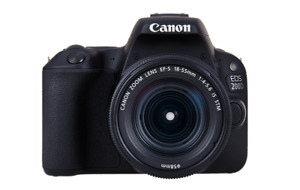 """Canon EOS 200D 18-55mm 24.2mp 3"""" Brand New jeptall"""