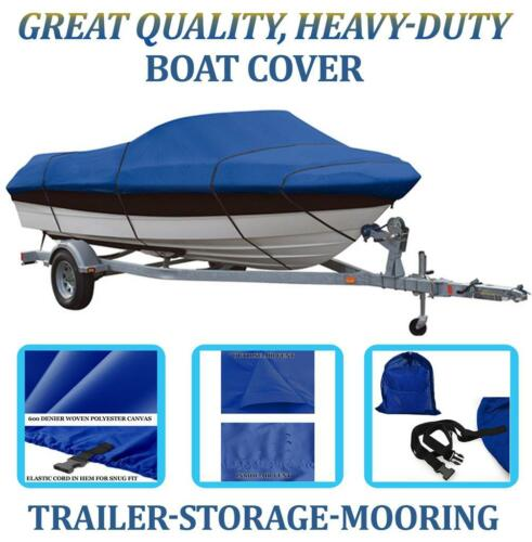 BLUE BOAT COVER FITS KEY WEST 1900 CC SPORTSMAN W// BOW RAIL ALL YEARS