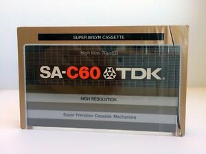 TDK-SA-C-60-BLANK-AUDIO-CASSETTE-TAPE-NEW-RARE-1979-YEAR-USA-MADE