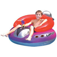 Kids Spaceship Squirter Ride On Float Swimming Pool Children Inflatable Toy Raft