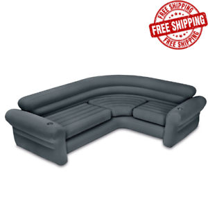 Details About Inflatable Sofa Couch Camping Portable Outdoor Blow Up Bed Lounge W Cupholders