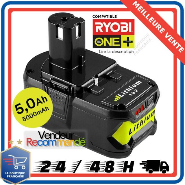 Batterie pour Ryobi One Plus 5,0AH 18V RB18L25 RB18L50 P108 P107 P104 P780 FR