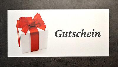 20 Stück Geschenk Gutscheine blanko Gutschein alle Branchen Wertgutschein