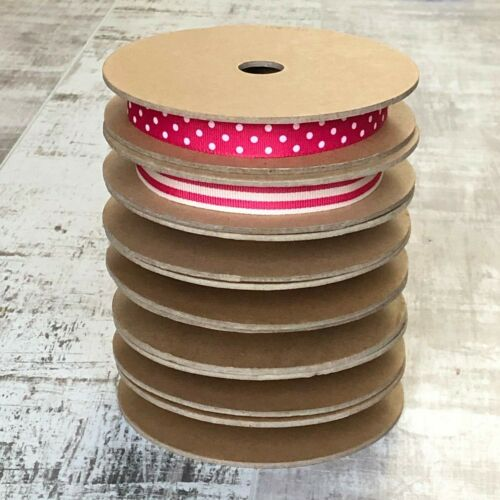 15mmstorage bobbin craft trimming 2 x Empty ribbon lace haberdashery spools