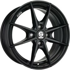 Complete Summer Wheel Set Smart Forfour 453 Alloy Sparco Trofeo Black Kumho