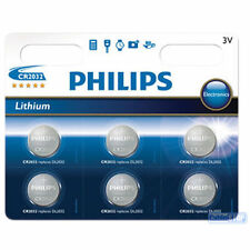 6 x PHILIPS CR2032 3 V al Litio batteria bottone DL1632 DL2032-scadenza 2025