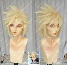 Final Fantasy VII Cloud Strife Anime Costume Cosplay Wig (need styled)+ Track