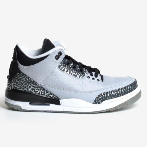 Air Iii Grey 004 Wit Zwart Ds Retro Wolf Zilver 136064 2014 3 Jordan Metallic WED9Y2HI