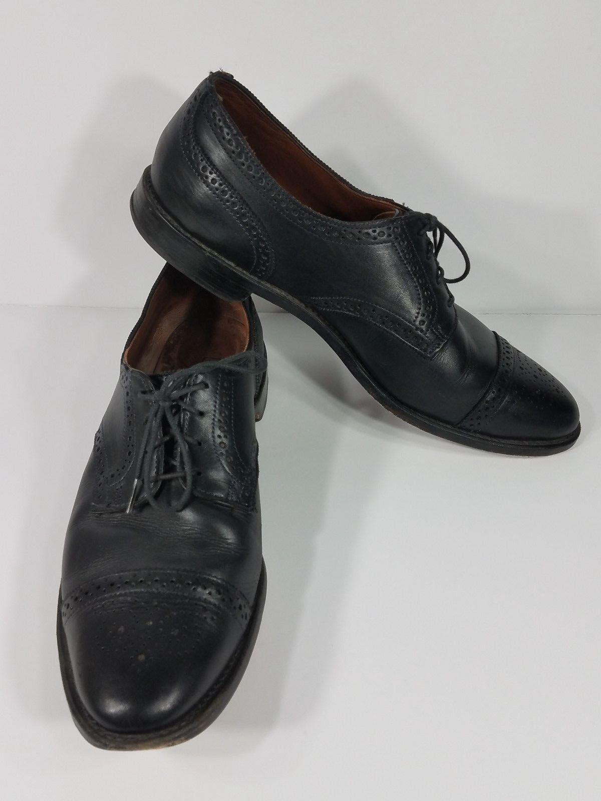 Allen Edmonds Sanford nero leather lace up professional dress dress dress scarpe mens 13 D 777ca8