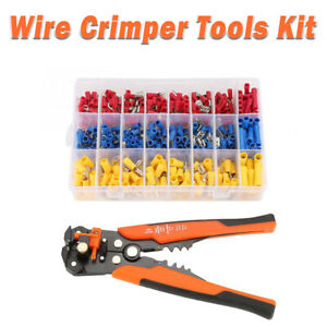 Crimper-Pliers-Crimping-Tool-Set-Cable-Wire-Electrical-Terminal-400pcs-Cutter