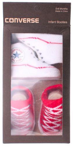 Converse Baby All Star A maglia Stivaletti Confezione Da 2 Rosso/Bianco