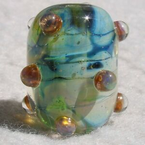 CLOUD-COVER-Handmade-Art-Glass-Focal-Bead-Flaming-Fools-Lampwork-Art-Glass-SRA