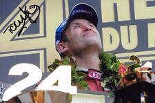 Tom Kristensen SIGNED  Audi Victory Portrait  , Le Mans 24hrs 2013