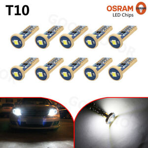 10x-T10-3030-3-SMD-LED-White-Car-Wedge-Side-Light-Bulb-12V-Parking-City-Lights