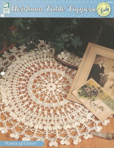 Waves of Clover Doily Crochet Pattern Heirloom Table Toppers HOWB