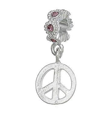 Beautiful Símbolo De Paz Morado Diamante Imitacion Piedra De Nacimiento De Febrero High Quality Relojes Y Joyas