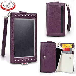 Kroo-Clutch-Wristlet-Wallet-with-Screen-for-Smartphone-up-to-5-1-Inch