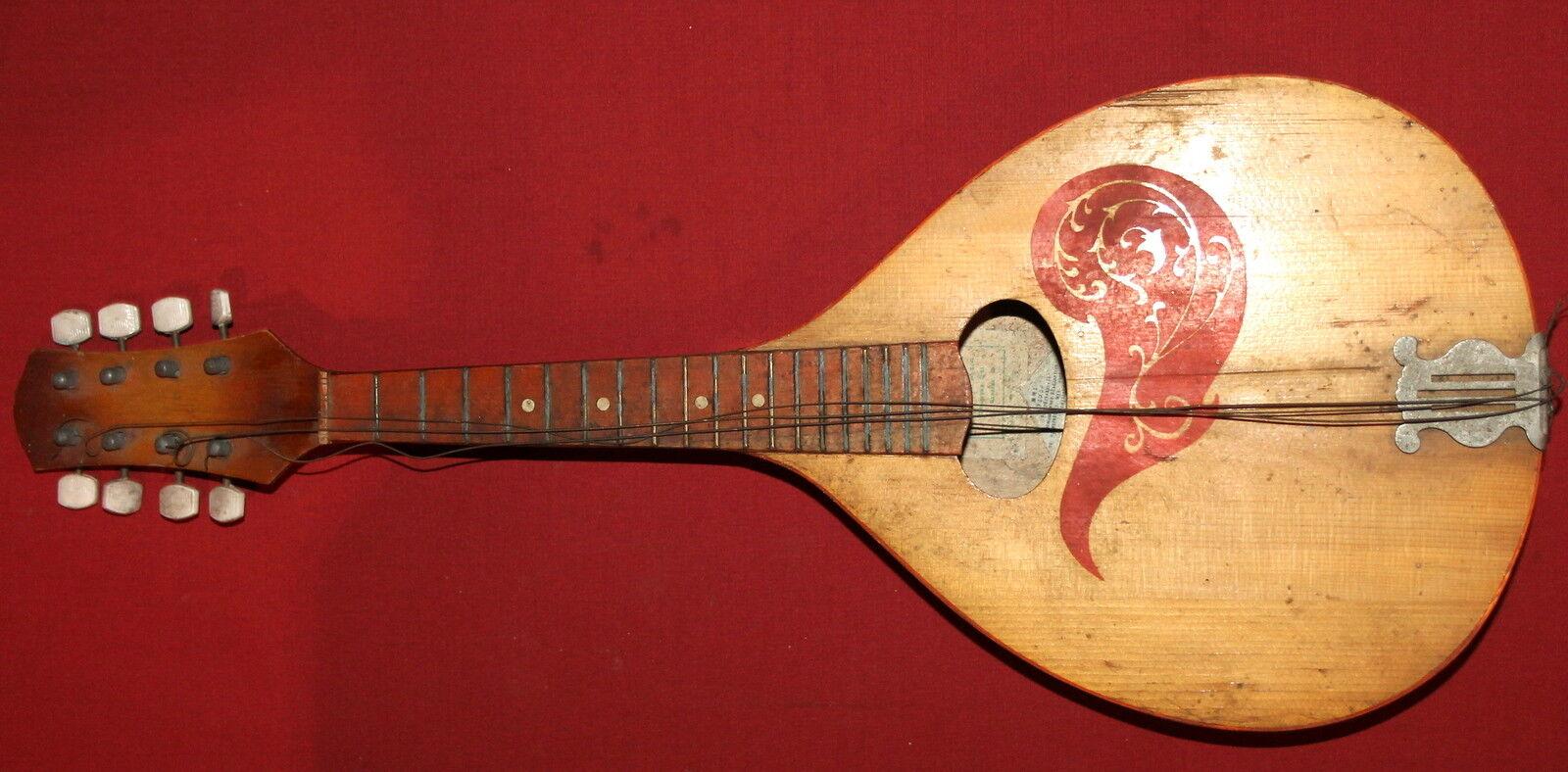 Vintage Soviet Russian USSR USSR USSR Wood 8 Strings Mandolin d2ceb8