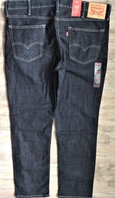 6d3bae54 Men's Levi's 511 Slim Stretch Fit Dark Blue Denim Jeans Size 28 X 32 Nes