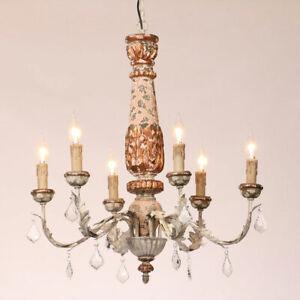 Antique Ceiling Pendant Lamp 6 Candle Shape Lights Retro ...