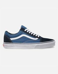 BRAND NEW Vans Authentic Old Skool Navy   White shoes size 8.5 Men ... c8455650e
