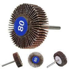 5 X Sanding Sandpaper Flap Wheel Disc 80# Grit for Shank Rotary Tools