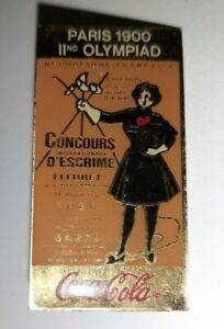 Jolis-pin-039-s-ancien-coca-cola-Paris-1900-concours-d-039-escrime-fleuret