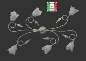 Plafoniera Ferro Battuto Nero : Ba bo silvia lampada a soffitto plafoniera ferro battuto