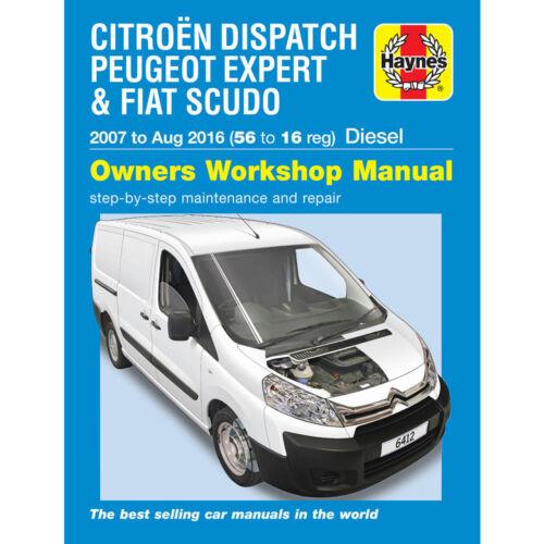 Citroen Dispatch Haynes Manual 2007-16 Peugeot Expert Fiat Scudo Workshop