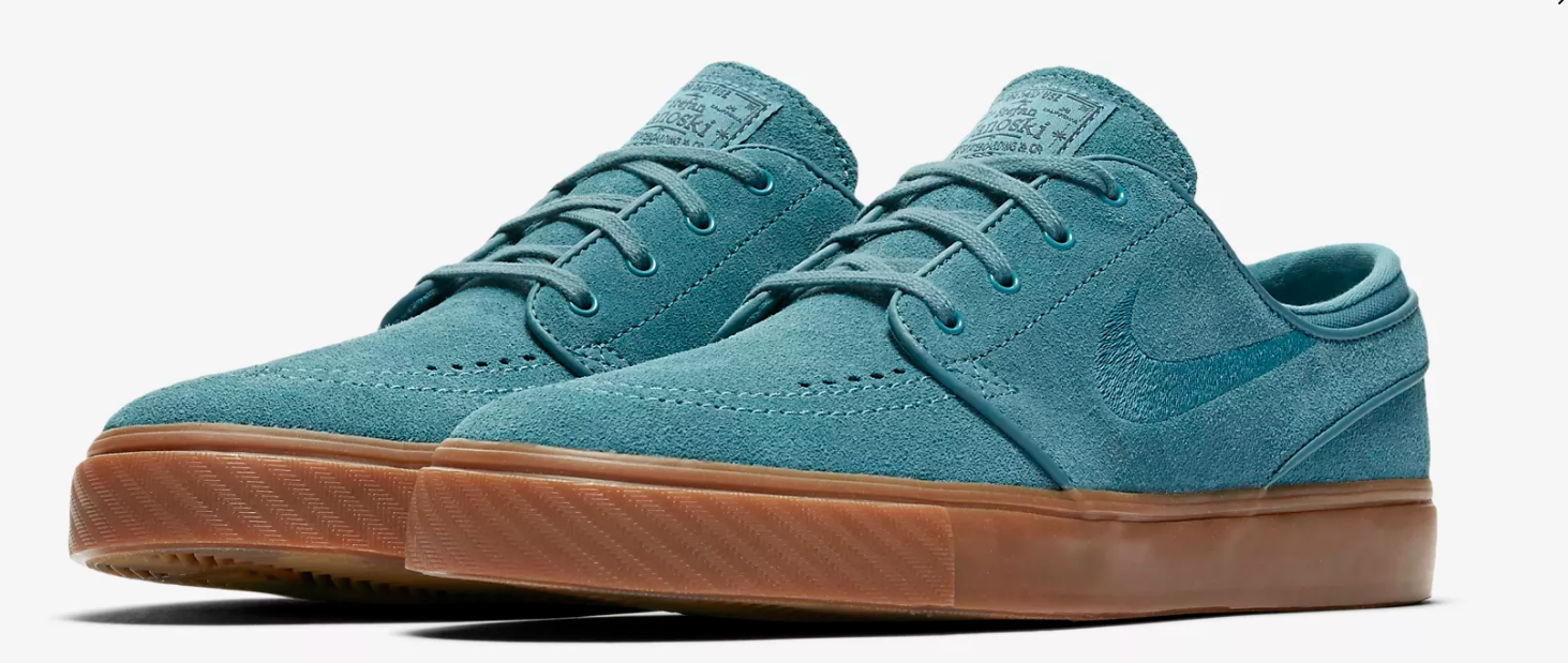 Nike Zoom Stefan Janoski Mens Suede Noise Aqua Bleu Chaussures Brand New Size UK 7