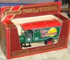 MATCHBOX - MODELS OF YESTERYEAR - 1926 FORD MODEL TT VAN - OSRAM - BOXED - Y-21