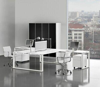Arbeitsplatz Für 2 Personen Loopy, 404 X 160-200 Cm, Dekor Wählbar, Schreibtisch