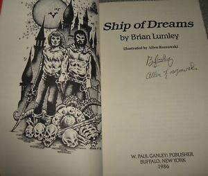 1986-First-Edition-of-SHIP-OF-DREAMS-by-Brian-Lumley-Signed-by-Author-amp-Artist