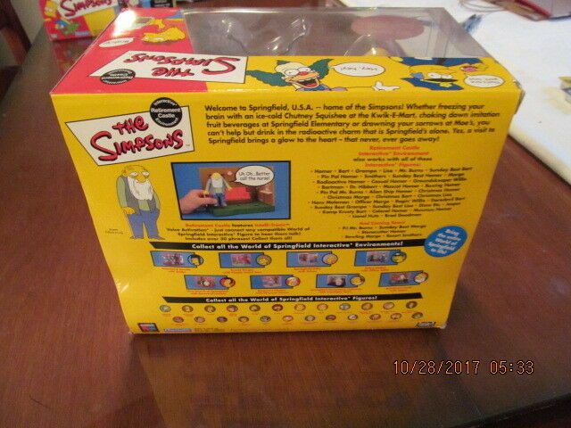 Simpsons Simpsons Simpsons Interactive RETIREMENT CASTLE Environment  Playmates  NIB  Jasper 7cafe4