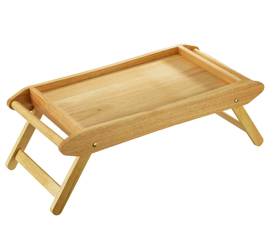 Zassenhaus Betttisch Serviertisch Tablett aus Gummibaumholz neu OVP