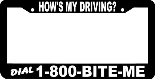 1-800-Biteme Automotive License Plate Frame Blue About Face Designs How Is My Driving 6 x 12
