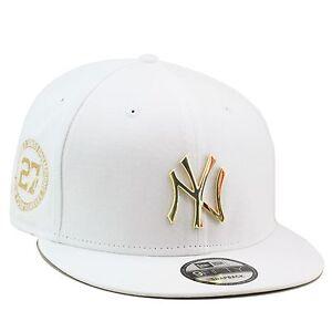 d6c40da968e New Era New York Yankees Snapback Hat WHITE GOLD BADGE ...