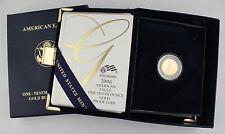2006 W $5 1/10 Oz Fine GOLD AMERICAN EAGLE PROOF COIN + COA & OGP