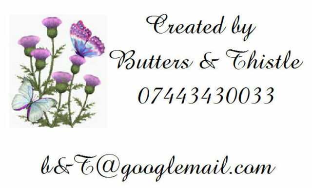 Personalised Labels Thistle / Address / handmade by / cards 187 set of 260