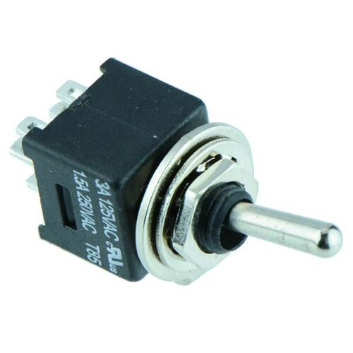 On-On Subminiature Toggle Switch DPDT MTE202A1