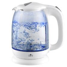 Glas Wasserkocher mit LED 1,7 Liter SCHWARZ von Lentz