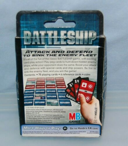 Hasbro Battleship Hidden Threat Card Game