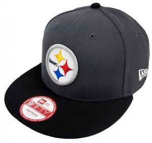 La imagen se está cargando New-Era-NFL-Pittsburgh-Steelers-Grafito-GORRA -SNAPBACK- 4cc3c1cc0b4