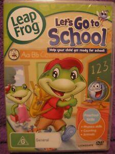 Kids-Learning-LEAPFROG-Let-039-s-Go-to-School-DVD-New-Sealed