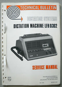 Philips LFH0302 Diktiergerät Service Manual inkl. div. Service Bulletins 10/1978