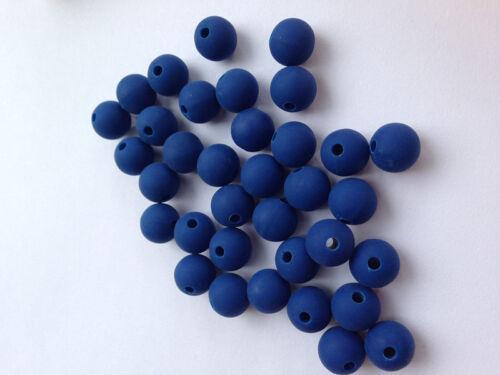 attache tetine 10 Perle 10mm Silicone Couleur Bleu Marine Creation Bijoux