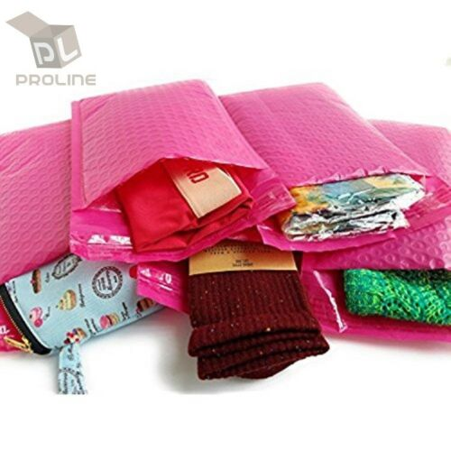 Inner 8.5x11 200 Pink Poly Bubble Padded Envelopes Self-Sealing Mailers 8.5X12